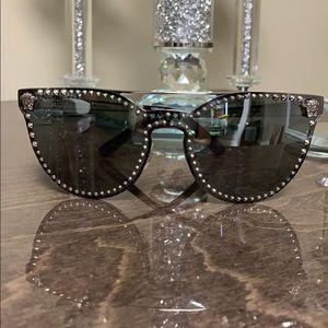 Versace MOD.2177 1000/8G Silver/Black Sunglasses